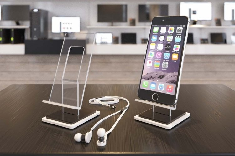support t l phone en plexiglass vente en gros supports iphone en acrylique pr sentoir en. Black Bedroom Furniture Sets. Home Design Ideas