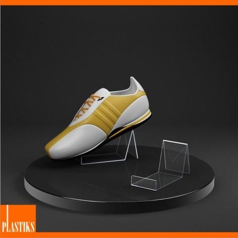 pr sentoir acrylique pour les chaussures. Black Bedroom Furniture Sets. Home Design Ideas