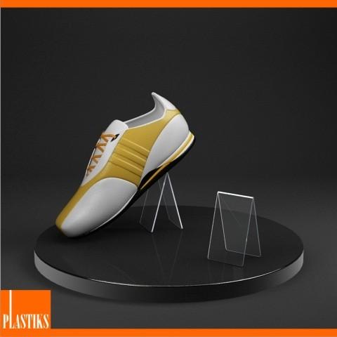 pr sentoir en acrylique pour les chaussures. Black Bedroom Furniture Sets. Home Design Ideas