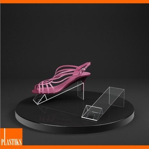 pr sentoir acrylique chaussures. Black Bedroom Furniture Sets. Home Design Ideas