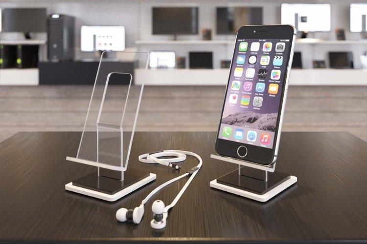 d0cbf73808fa Support accessoires téléphone en plexiglas. Acrylique sur mesure. Vente en  gros supports Iphone en acrylique. Présentoir en plexiglass.